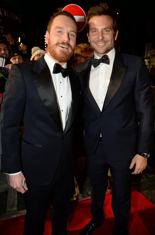 Michael Fasbender y Bradley Cooper Bafta 2014
