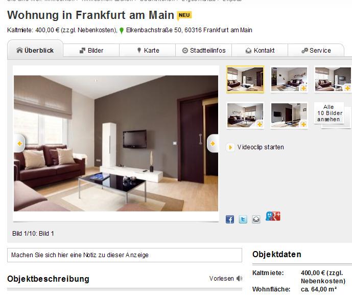 Str. , Frankfurt am Main - Mietwohnung in Frankfurt am Main ...