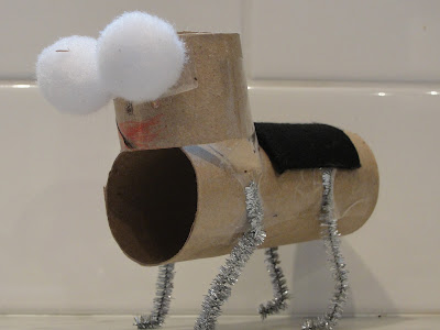 child made bug puppet