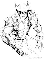Mewarnai Gambar Wolverine