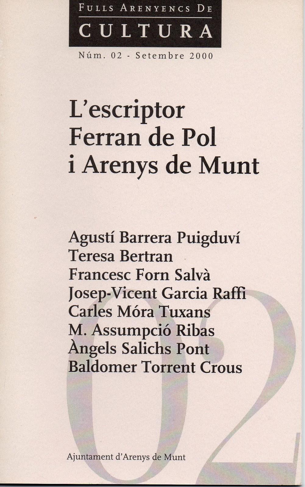 L'escriptor Ferran de Pol i Arenys de Munt