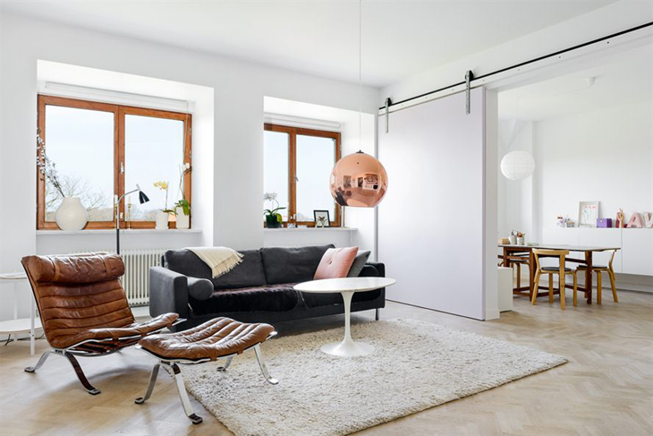 design attractor beautifull apartment in malm. Black Bedroom Furniture Sets. Home Design Ideas