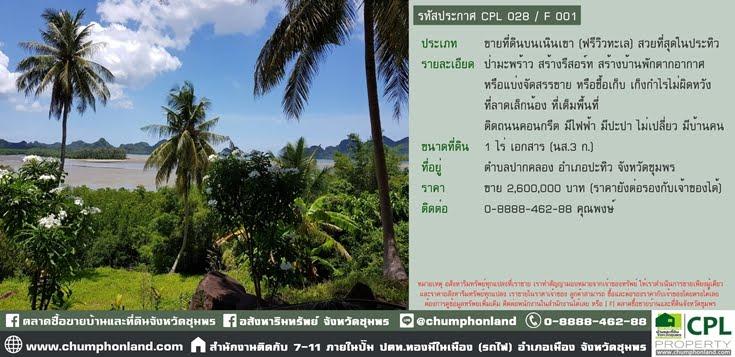 รหัสประกาศ CPL 028 / O 001