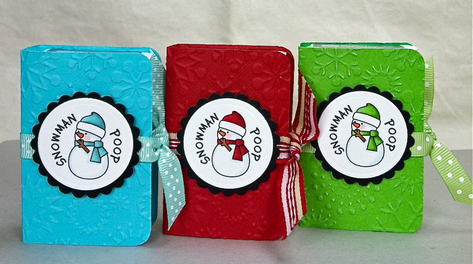 pic of the inside, and also the one I made for the Fellas.. Grinch ...
