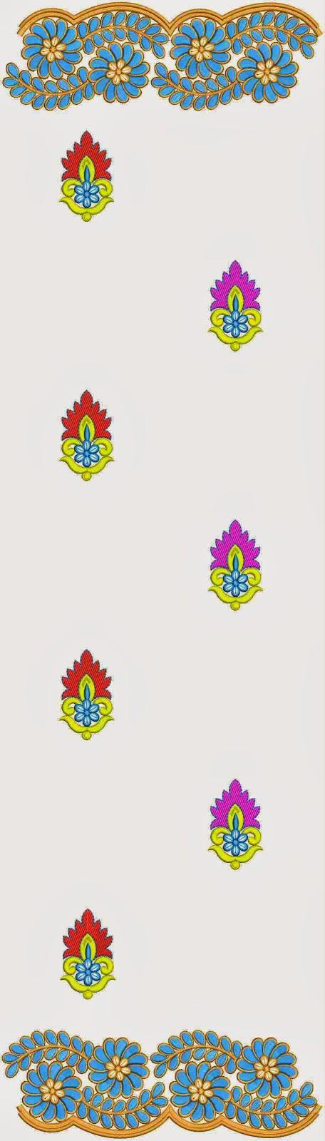 aard quilts borduurwerk Dupatta