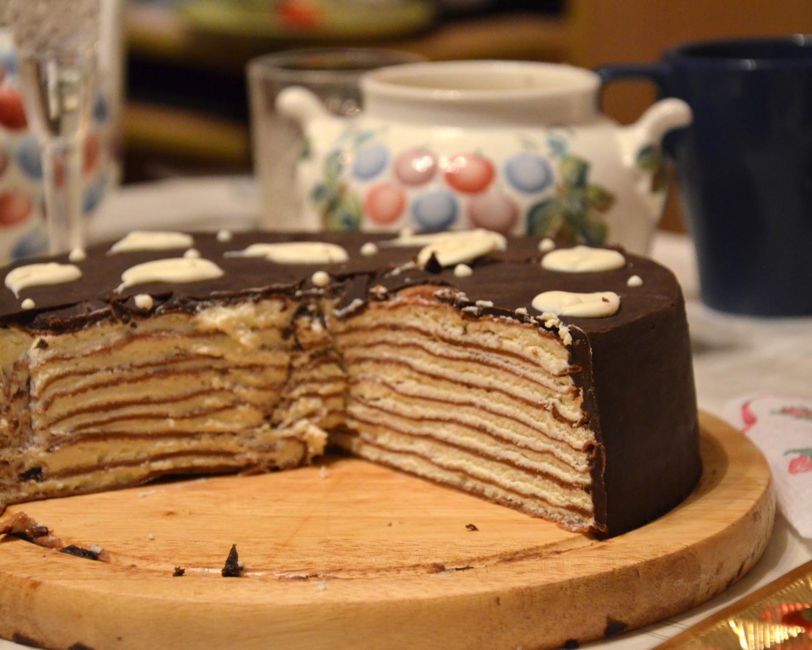 Блинный торт рецепт пошагово со сливками рецепт