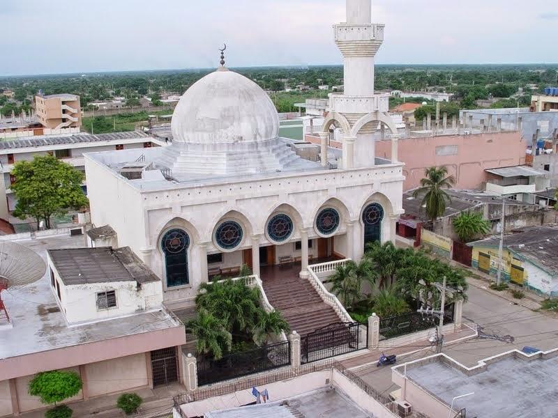 Mezquita árabe en la ciudad de Maicao