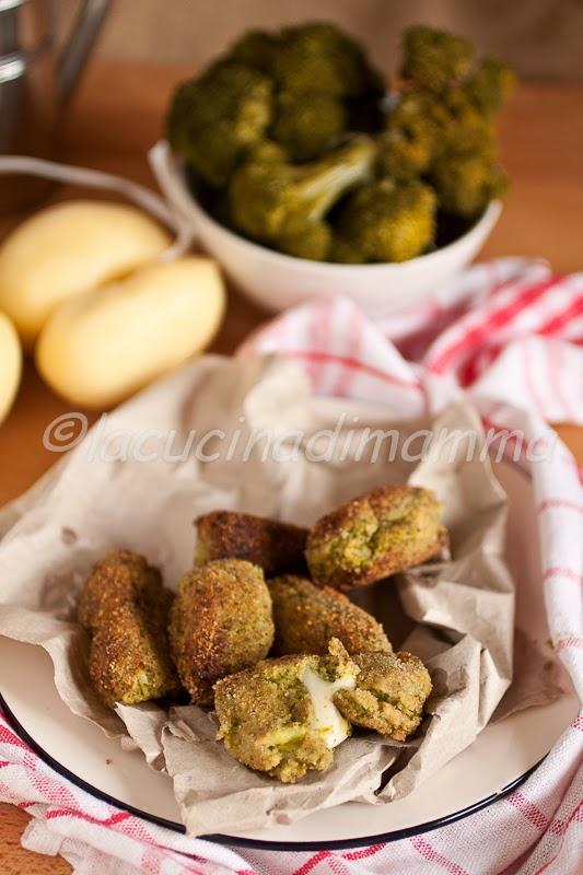 crocchette ai broccoli, feta e scamorza