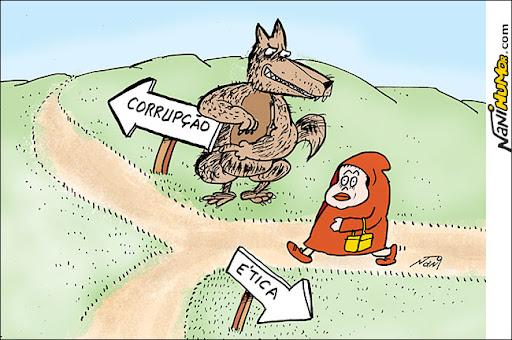 Dilma como chapeuzinho vermelho