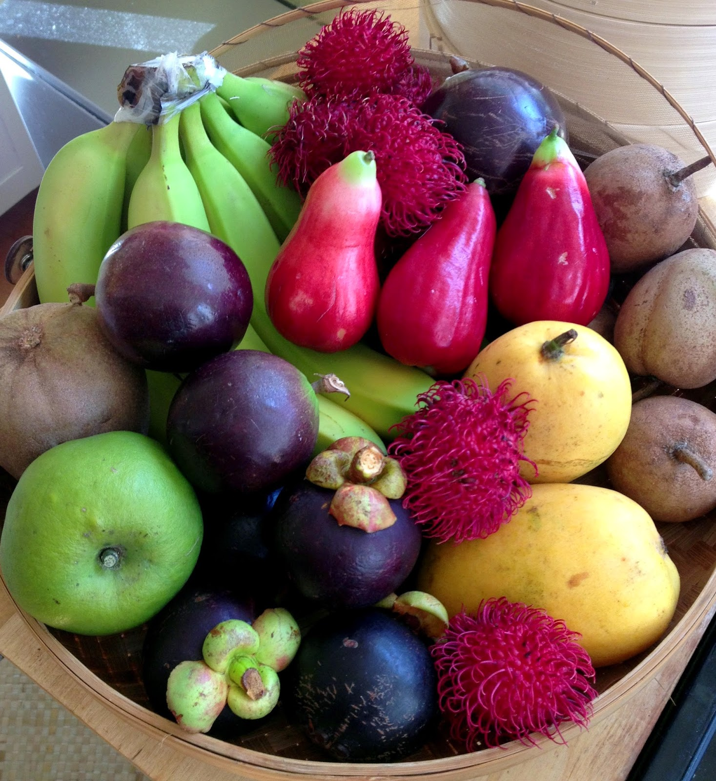 rambutans mangosteen chico sapodilla mamey sapote white sapote banana star apple mango and mountain apple