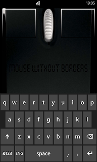 Microsoft Garage Mouse without Borders - Windows Phone鍵盤操控畫面