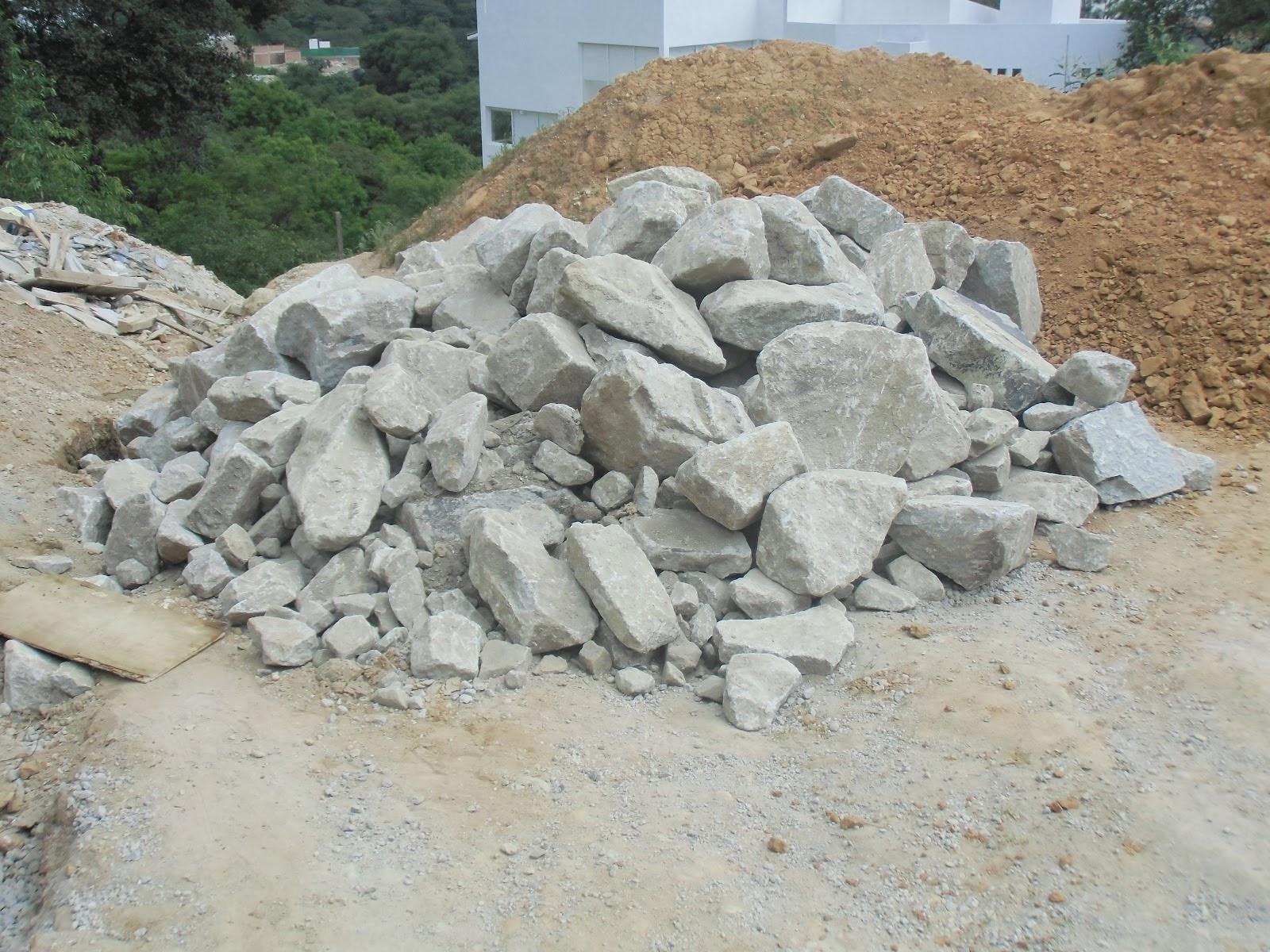 piedras para muro de retencin
