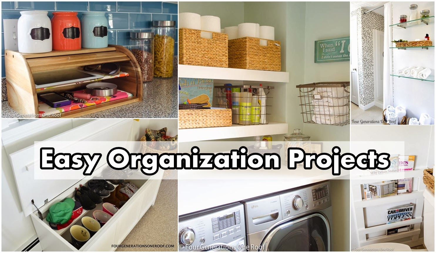 easy organization projects diy craft projects