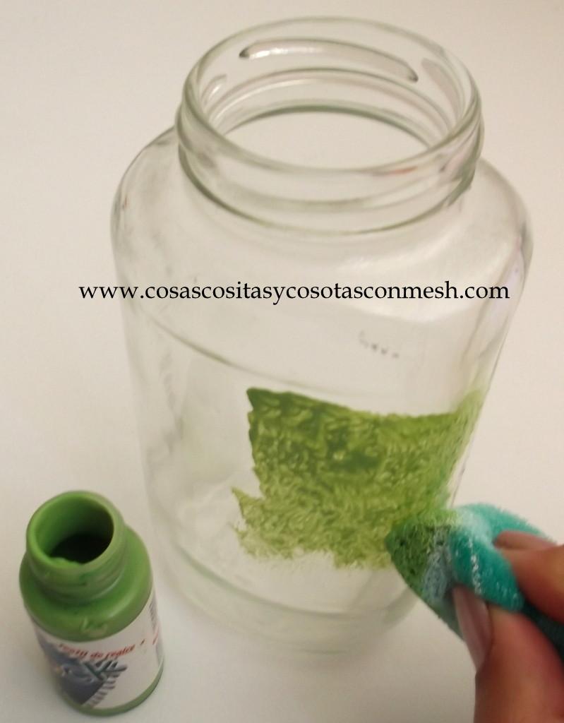 Decorar frascos de vidrio con servilletas de papel - Papel para vidrios ...