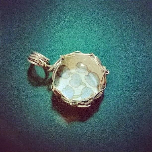 CRAFT PROJECT: Handmade glass-wire-crochet necklace - haponesang sunog