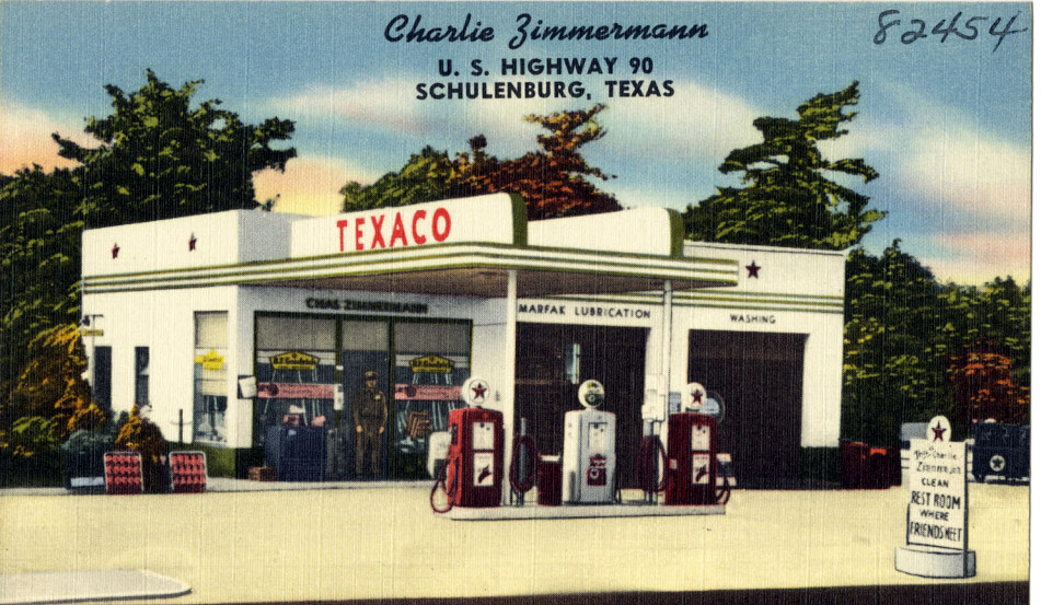 just a car guy service station and garages on postcards