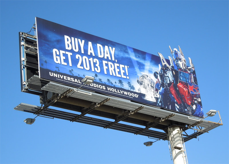 Universal Studios Hollywood Transformers 2013 billboard