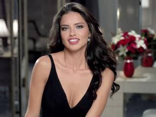 Adriana Lima beautiful sexy Teleflora Valentine's Day date