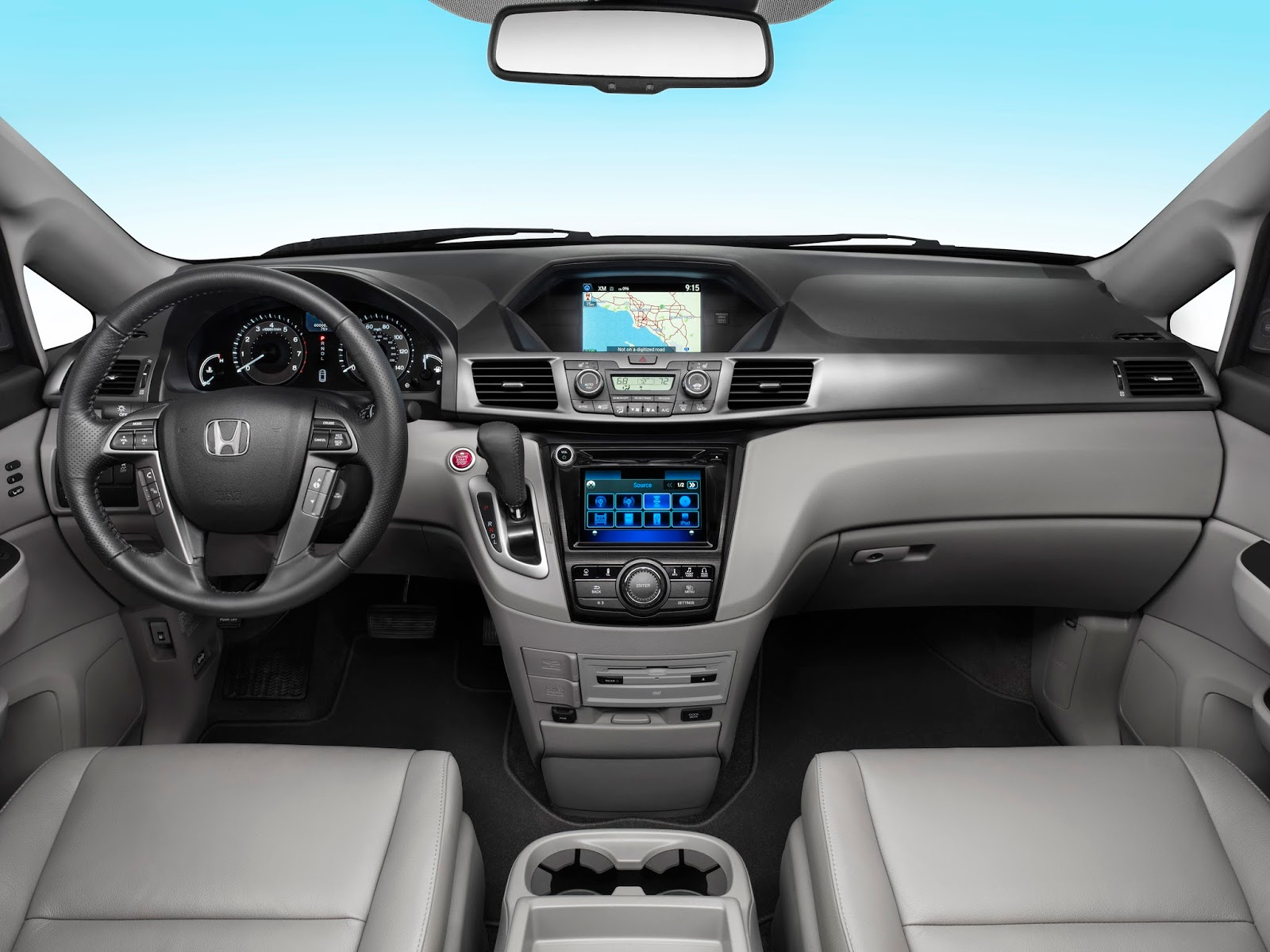 Interior view of 2014 Honda Odyssey Touring Elite