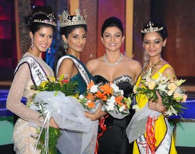 Miss India 2011 Gallery -Vasuki Sunkavalli - Parul Duggal - Tanvi Singla - Mentor Sushmitha Sen