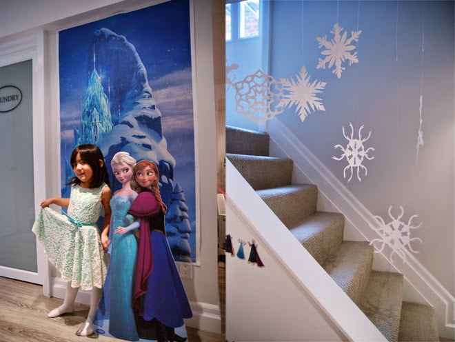 disney frozen birthday party photo backdrop
