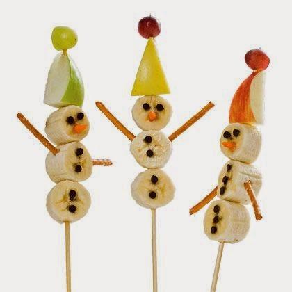 Fruta decorada en Navidad en Recicla Inventa
