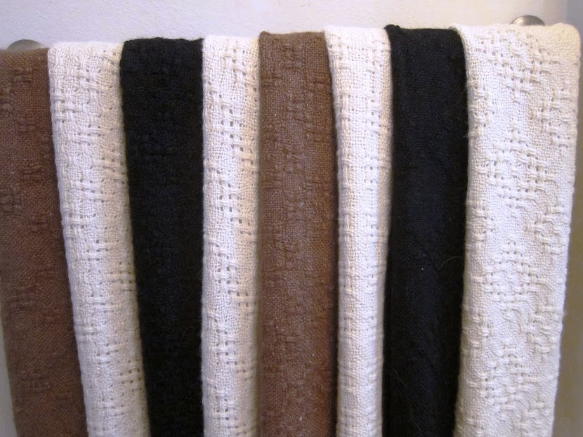 eight finished shawls