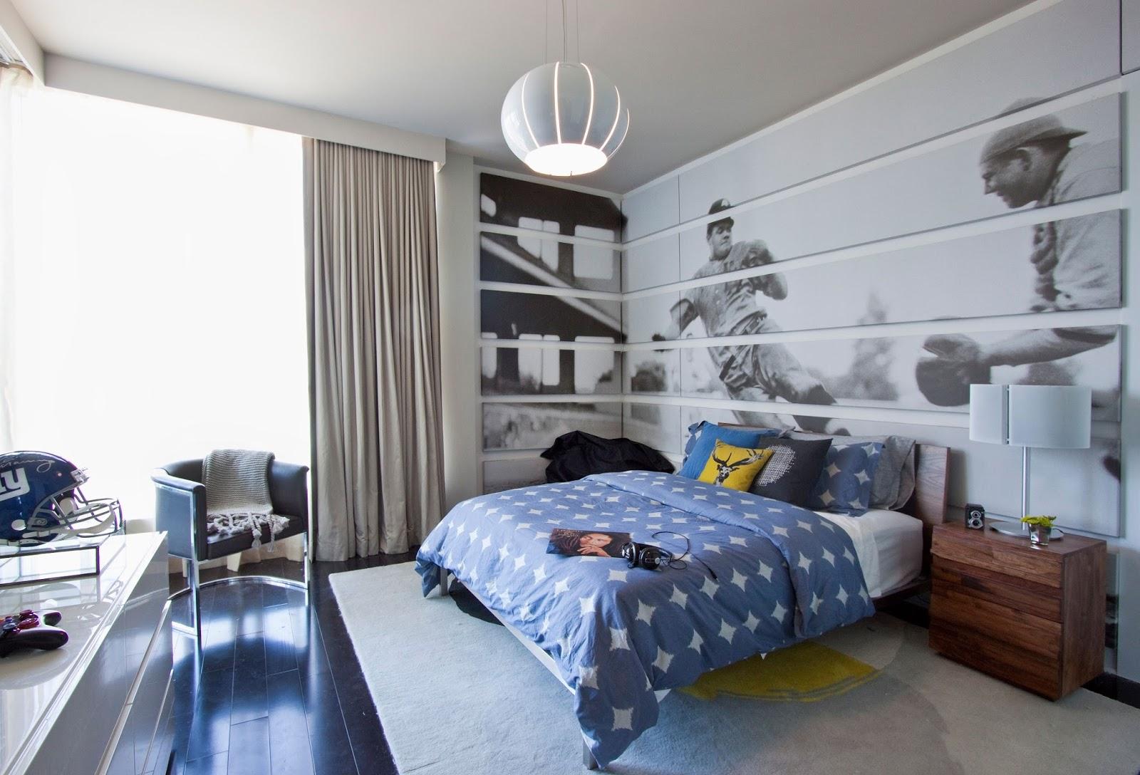 Decoraci n de cuartos dormitorios paredes cortinas - Decoracion de paredes de habitacion ...
