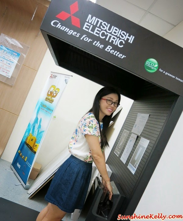 Mitsubishi Electric, Eco Changes, For A Greener Tomorrow, Slim Series, Jet Towel, Hand Dryer