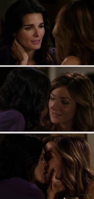 Angie Harmon and Sasha Alexander Lesbian Kiss, Rizzoli & Isles Watch Online lesbian media
