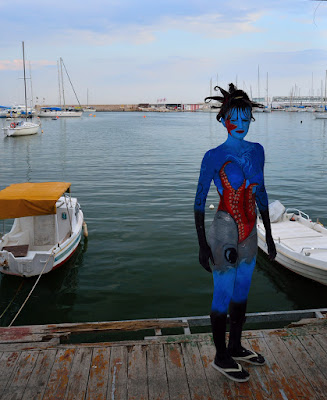 image of a girl in bodypaint