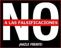 NO A LAS FALSIFICACIONES