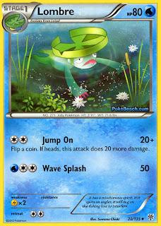 Lombre Plasma Storm Pokemon Card