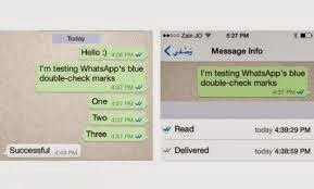 WhatsApp now shows blue ticks