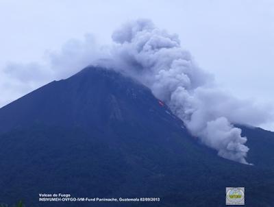 Volcán Fuego en erpción 02 de Septiembre 2013