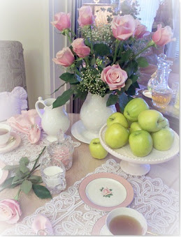 Roses and green apples....ahhh!