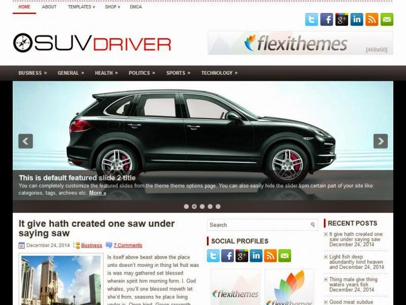 SuvDriver - Free Wordpress Theme