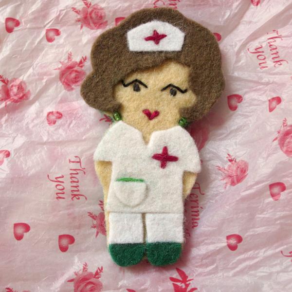 Enfermeras fieltro patrones - Imagui