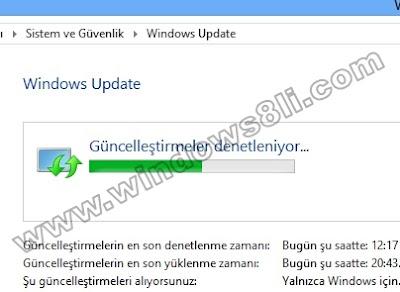 Windows 8 Güncelleme