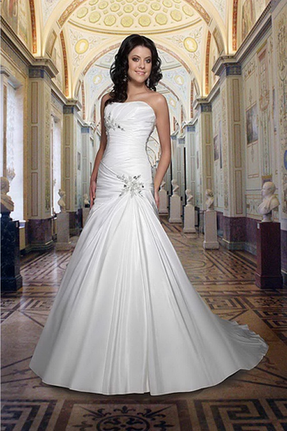 used modest wedding dress