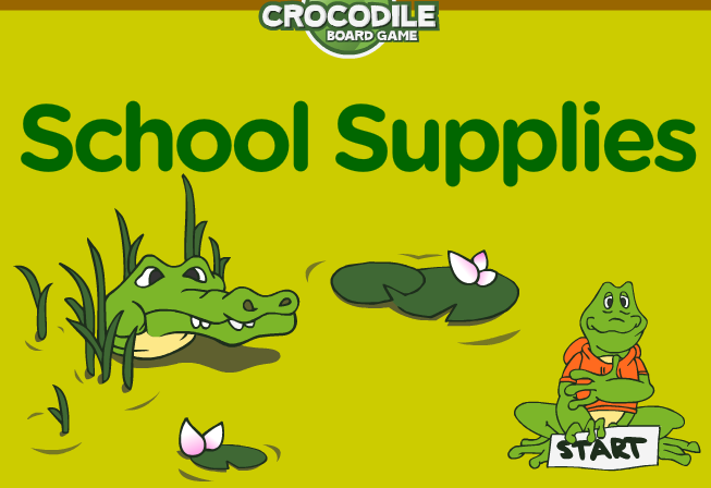 http://www.eslgamesplus.com/school-supplies-esl-interactive-vocabulary-crocodile-board-game/