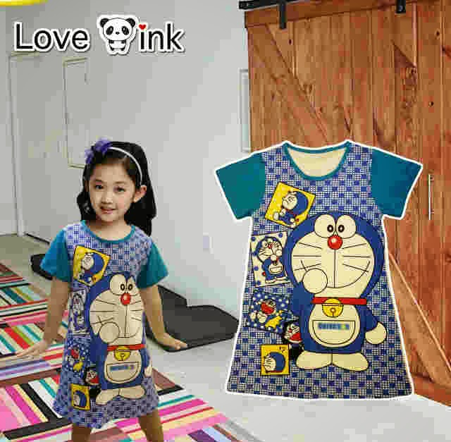 Dress Kids Doraemon.Love Ink.
