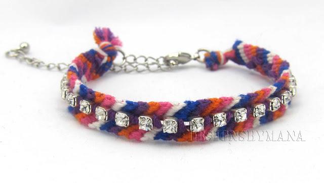 crystal chain beaded friendship bracelet