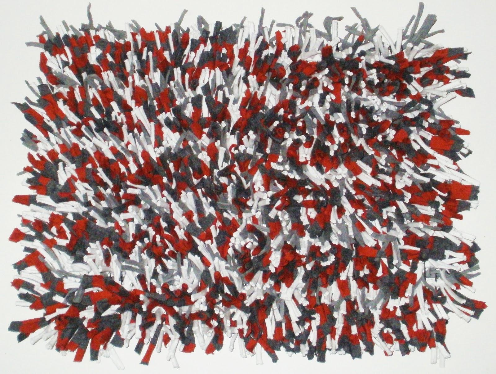alfombra nudos de tela by gon