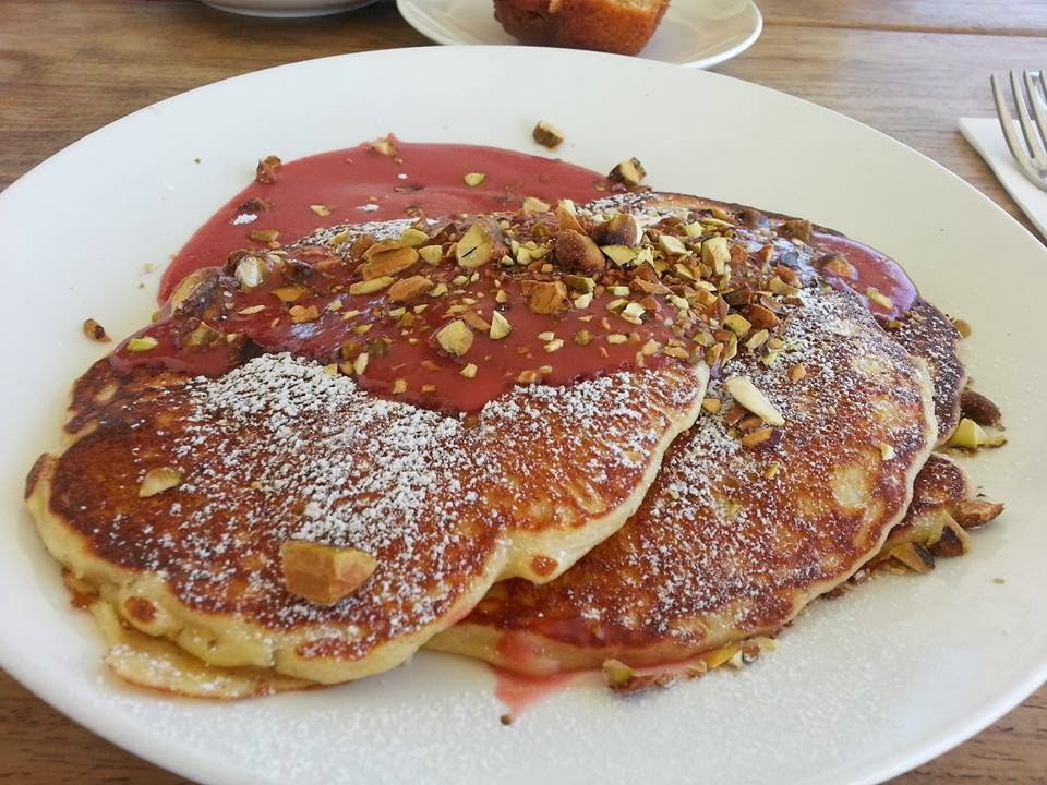 Lemon and Ricotta Pancakes at Bib & Tucker