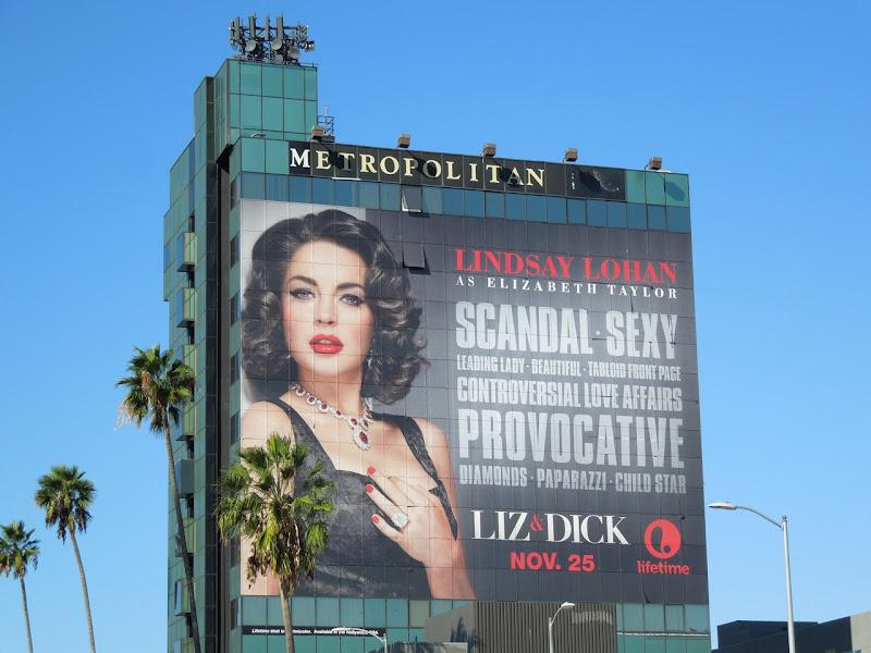 Giant Liz Dick Billboard Sunset Boulevard