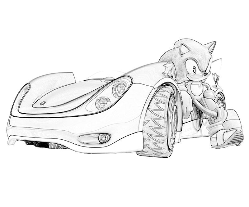 sonic racing comic coloring pages - photo#23