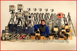 James Balog and his project equipment