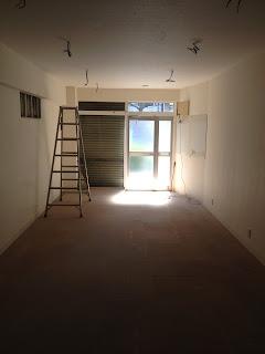 ナナロクカフェ 内装工事前 写真 奥から
