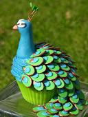 Cupcake påfugl